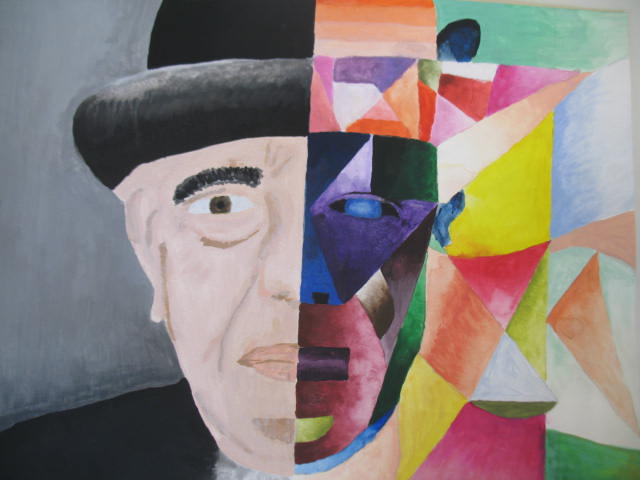 """Schülerarbeiten zum Thema """"Kubismus"""""""