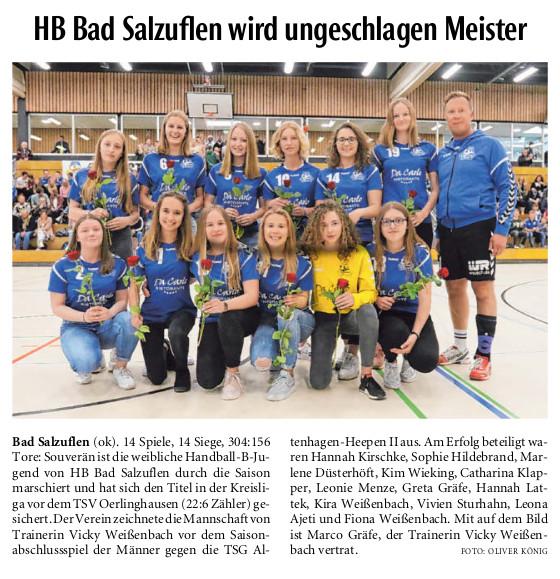 Tanja G Wohndesign Bad Salzuflen: Erfolgreiche Handballerinnen
